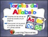Tarjetas del Alfabeto Pizarras Azules - Spanish Alphabet Cards Blue Chalkboards