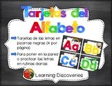 Tarjetas del Alfabeto Pizarras Negras - Spanish Alphabet Cards Black Chalkboards