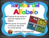 Tarjetas del Alfabeto de Color con Negro - Colorful Black