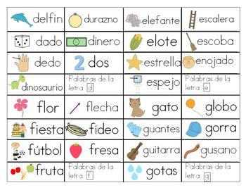 Cartas del abecedario bundle (Spanish word wall)