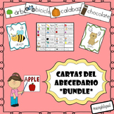 Cartas del abecedario bundle (Spanish word wall)