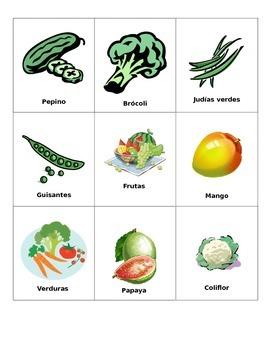 Cartas frutas y verduras