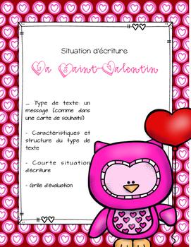 ÉCRITURE carte Saint-Valentin - FREEBIE