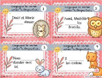 Carte A Taches Accord Du Verbe Aimer Imparfait By Madame Soleil