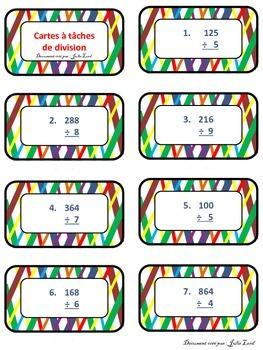 Carte à tâches de multiplication / division