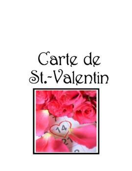 Carte de ♥ St.-Valentin For French Class