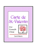 Carte de ♥ St.-Valentin For French Class