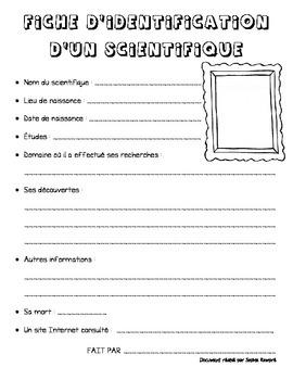 Carte d'identification d'un scientifique