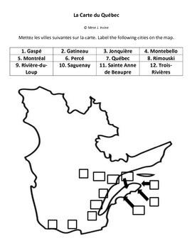 Carte du Quebec/Quebec Map