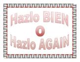 Cartel - Hazlo BIEN o Hazlo AGAIN