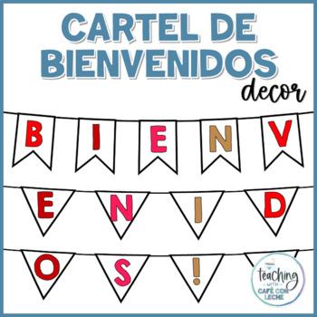 Cartel de Bienvenidos ROJO - Red Welcome Banner Spanish