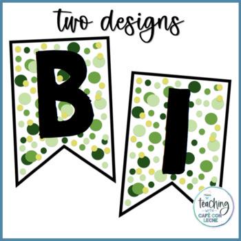Cartel de Bienvenidos VERDE - Green Welcome Banner Spanish