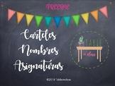 Carteles asignaturas Español