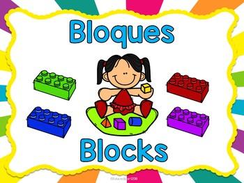 Carteles con centros para preescolar (Bilingual)