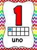 Carteles de Numberos con Marco de Diez/Ten Frame Number Posters in Spanish