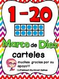 Carteles de Numberos con Marco de Diez/Ten Frame Number Po