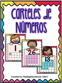 Carteles de Números/ Number Posters in Spanish