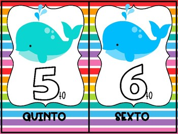 Carteles de Numeros Ordinales/Ordinal Numbers Posters 1-20