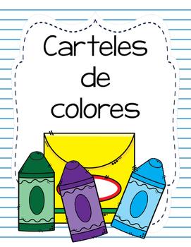 Carteles de colores (Spanish color posters-Apples)