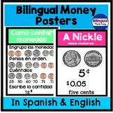 Carteles de dinero en ingles y espanol