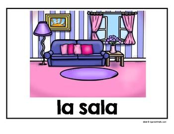 Carteles de la casa (House posters in Spanish)
