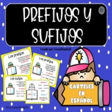 Carteles de los Prefijos y Sufijos - Spanish Prefixes and Suffixes Posters