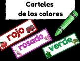 Carteles de los colores (Signs of Colors in Spanish)