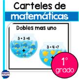 Carteles de matematicas en ingles y espanol - primer grado