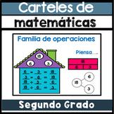 Carteles de matematicas - segundo grado en ingles y espanol