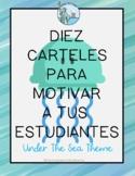 Carteles de motivacion Under The Sea theme Spanish