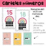 Carteles números en español | Decoración para clase