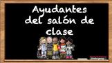 Carteles para ayudantes en el salón de clase en español (N
