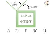 Cartell: Capsa d'accents CATALÀ