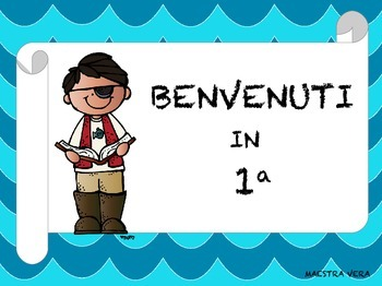 Cartelli di Benvenuto in Classe - Classroom Welcome Sign in Italian