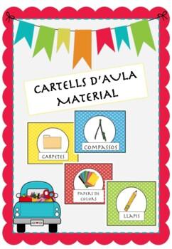 Cartells material aula