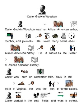 Carter Woodson - picture supported text visuals - lesson questions facts info
