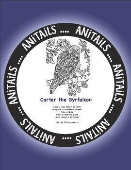 ANiTAiLS: Carter the Gyrfalcon Story, Crossword, Coloring page and more