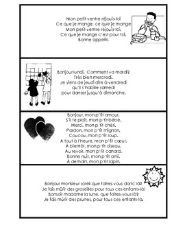 Cartes-Comptines /French Poem Cards
