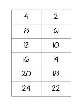 Cartes-Éclair - Multiplications 2 à 12