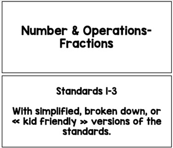 "Cartes ""Je peux"" - French Math Standards - Grade 3"