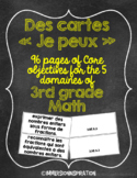 "Cartes ""Je peux"" - French Math Standards - Grade 3"