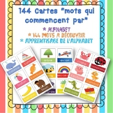 """Cartes """"Mots qui comment par"""" - Flash Cards francais"""