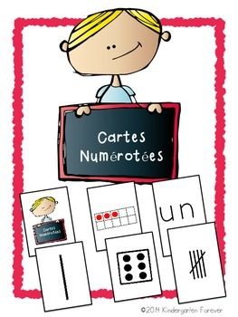 Cartes Numérotées ~ Numerals, Ten Frame, Dice, Tally & Word French Math Game