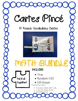 Cartes Pince - Math Bundle