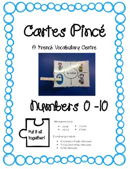 Cartes Pince - Numbers 0 - 20