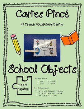 Cartes Pince - School Objects