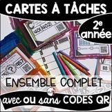 Cartes à Tâches CODES QR (L'ENSEMBLE COMPLET-BUNDLE/French Task Cards - 2e année