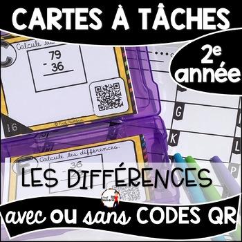 Cartes à Tâches CODES QR (Les Différences) - 2e année