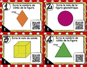Cartes à Tâches CODES QR (Les formes géométriques) 1re année