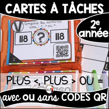 Cartes à Tâches CODES QR (Plus GRAND, plus PETIT ou ÉGAL à) - 0 à 1000